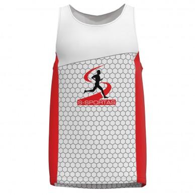 Bėgimo marškinėliai be rankovių performance pagal individualų dizainą (pavyzdys)