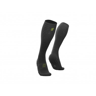 COMPRESSPORT kojinės Full Socks Oxygen BLACK EDITION