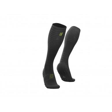 COMPRESSPORT kojinės Full Socks Oxygen BLACK EDITION