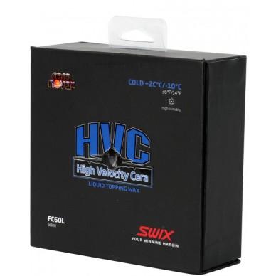 SWIX parafinas skystas FC60L HVC Cold +2°/-10°C, 50ml