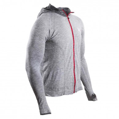 COMPRESSPORT viršus 3D Seamless Zip Hoodie Swim Bike Run